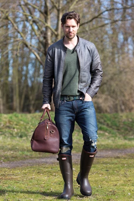 Outback Brown Leather Holdall Travel Bag