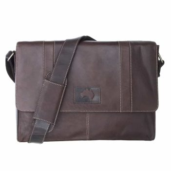 wombat Luxury Brown Oiled style Leather Messenger Business Bag