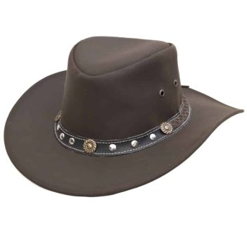 Wombat Ranger Soft Brown Full Grain Leather Cowboy Hat