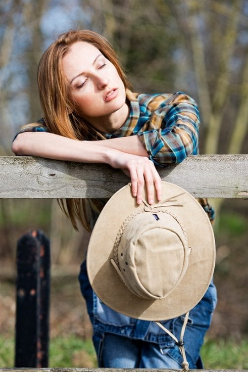 Women's Leather hats For The Summer Wombat Leather