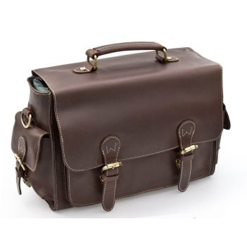 Wombat Thick Brown Hunter Leather Camera Bag 6919