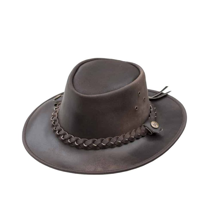 wombat outack leather hat
