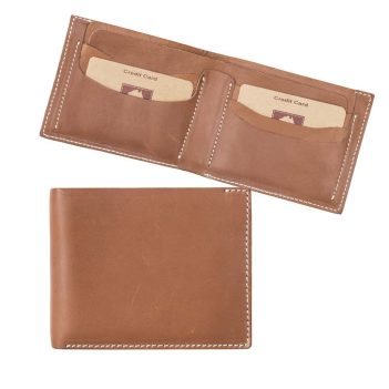Wombat Men's Rugged Thick Tan Leather Wallet - 001