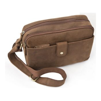 Wombat Hunter Leather Small Travel Bag - 6927