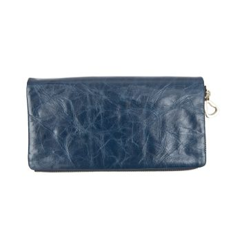 Artisan Range Ladies Soft Navy Leather Purse with Detachable Popper Section