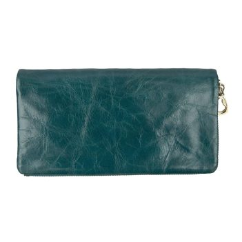 Artisan Range Ladies Soft Turquoise Leather Purse with Detachable Popper Section