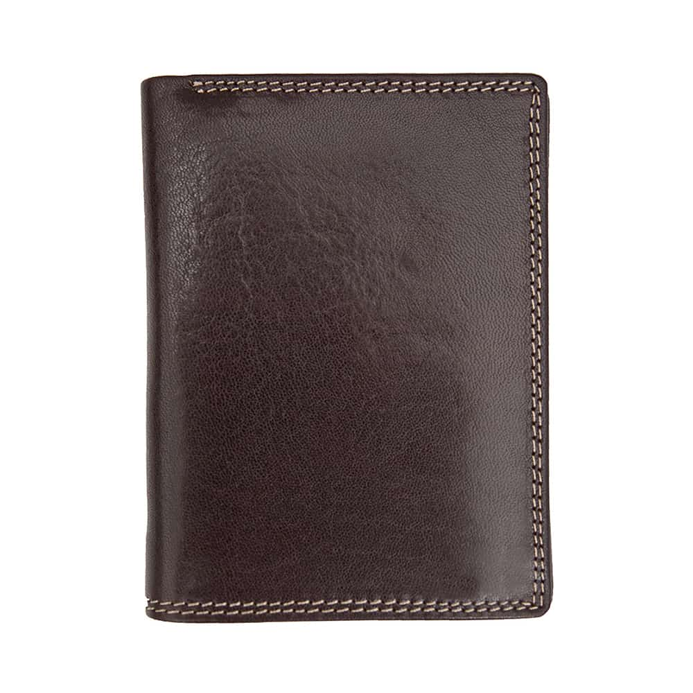 11Wombat Men's Artisan Luxury Italian Brown Leather Wallet - Removable Section