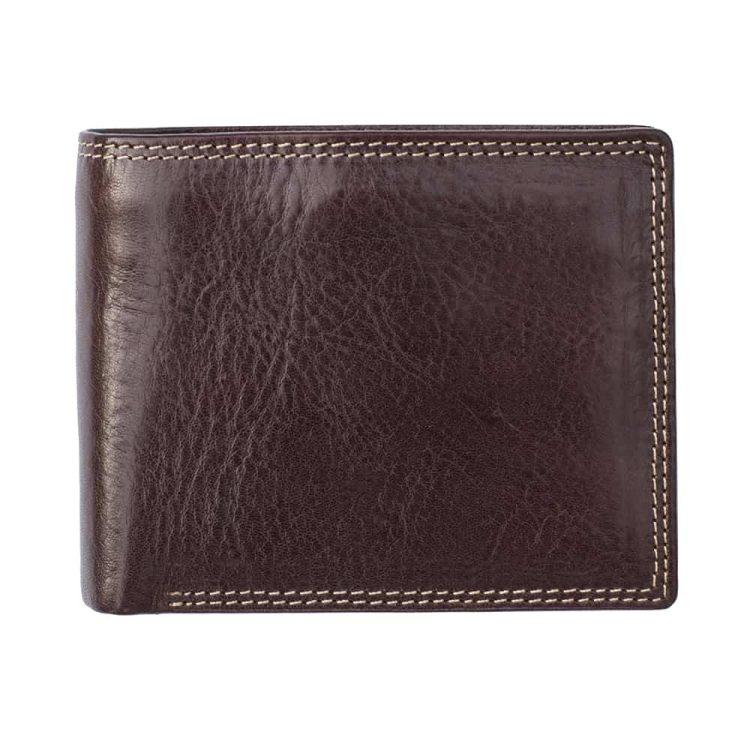 Wombat Artisan Mens Luxury Italian Vegetable Tanned Leather Wallet 6156