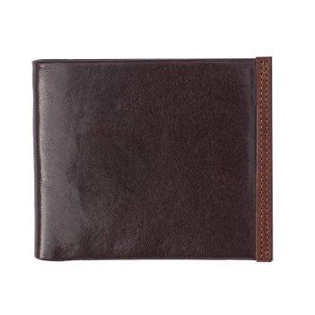 11Wombat Men's Artisan Luxury Italian Brown Leather Wallet - 6625