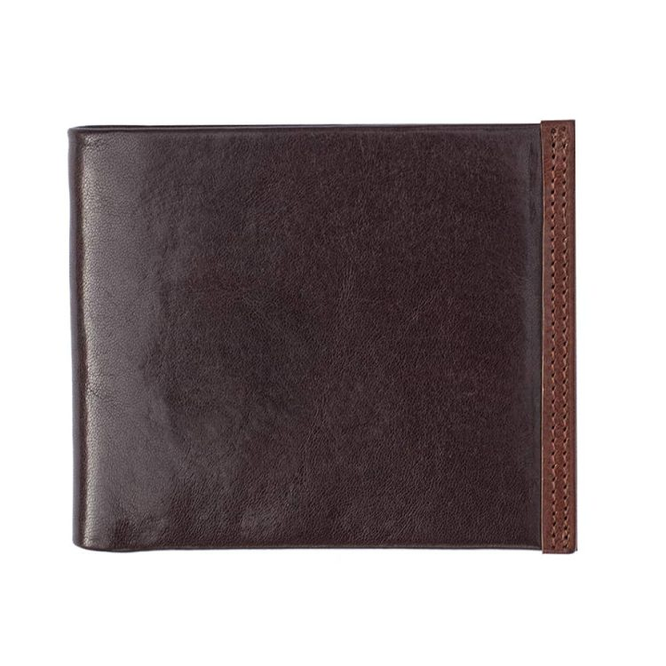 Wombat Men's Artisan Luxury Italian Brown Leather Wallet - 6625