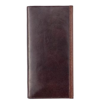 Wombat Men's Artisan Luxury Italian Brown Leather Jacket Wallet