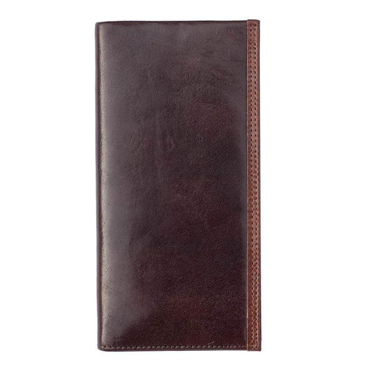 Wombat Men's Artisan Luxury Italian Brown Leather Jacket Wallet