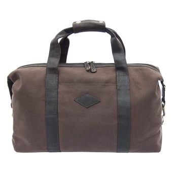 wombat Waxed Canvas and Leather Duffle Bag