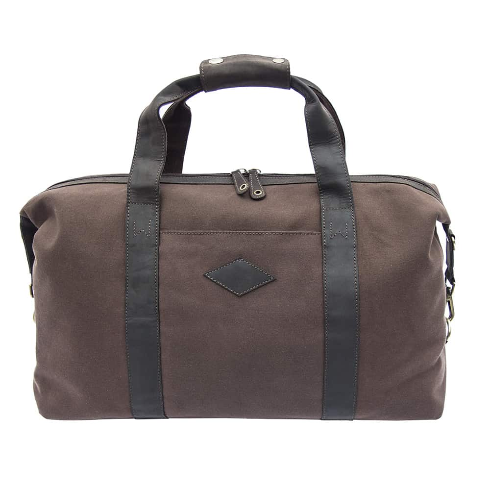 11wombat Waxed Canvas and Leather Duffle Bag
