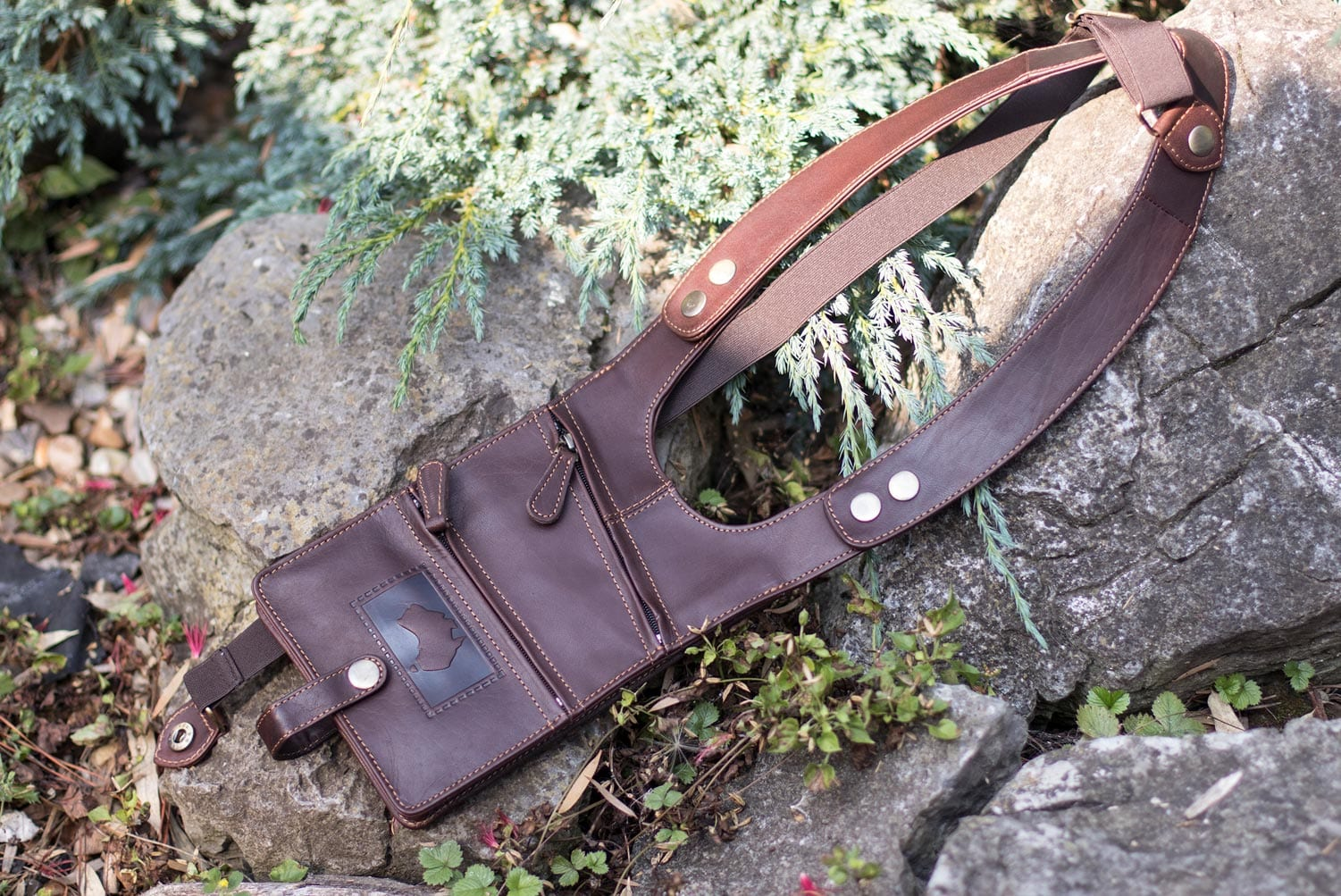 Oiled Leather Shoulder Holster Wallet
