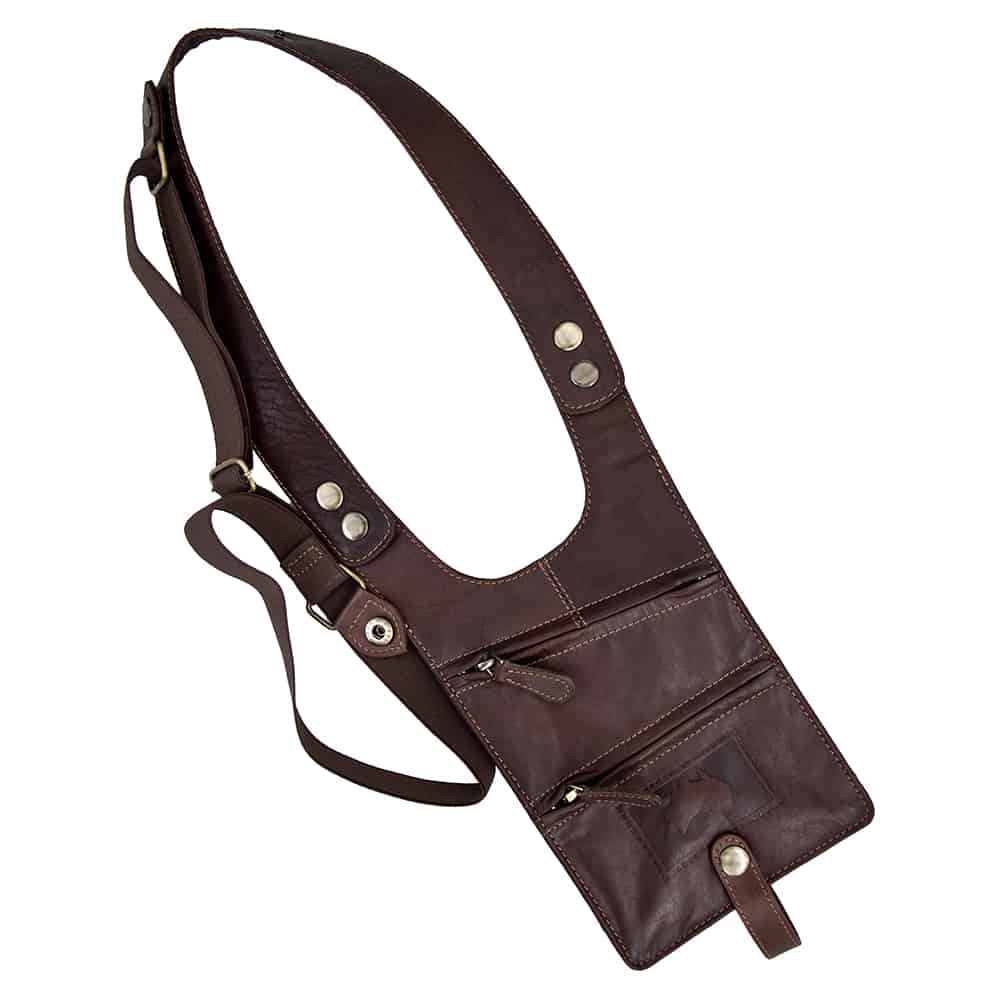 11wombat luxury Oiled Leather Shoulder Holster Wallet
