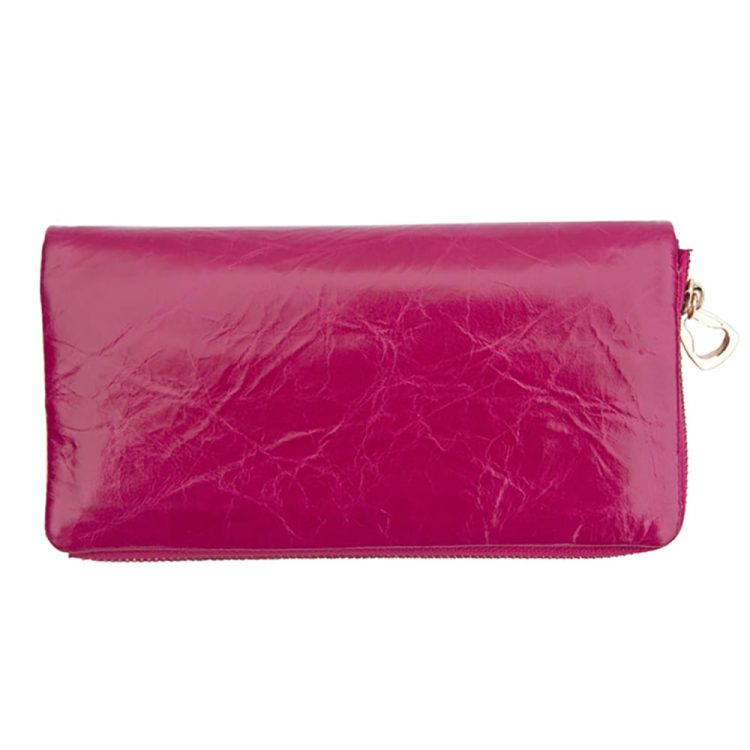 wombat Artisan Range Ladies Soft Berry Leather Purse with Detachable Popper Section