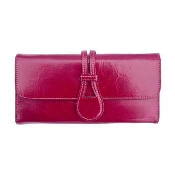 Wombat Artisan Range Ladies Ultra Soft berry Leather Purse