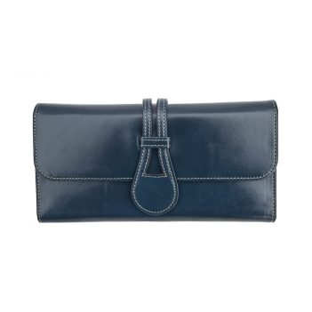wombat Artisan Range Ladies Ultra Soft Navy Leather Purse