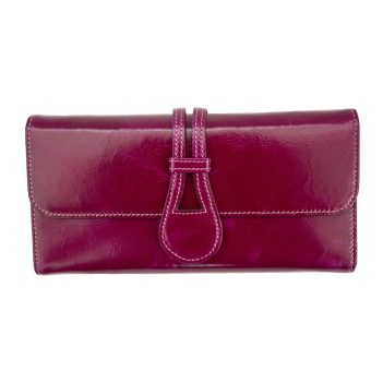 wombat Artisan Range Ladies Ultra Soft Fuchsia Leather Purse