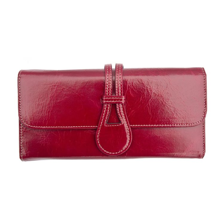wombat artisan soft red leather purse