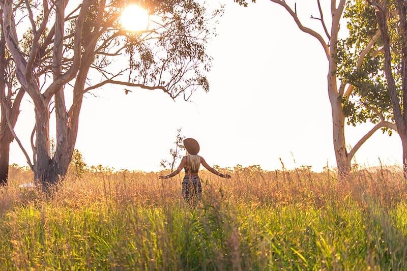 Running In Field